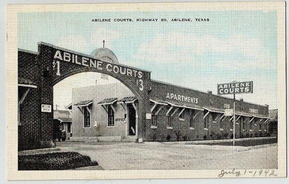 Motel Tourist Court 633 S 11th St Abilene Thc Texas