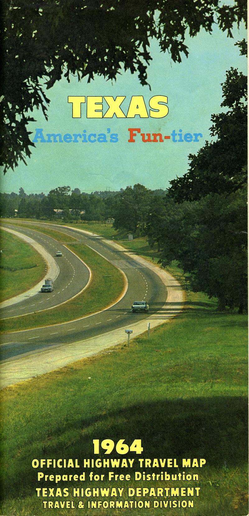 PostWorld War II Roads – Texas Official Travel Map
