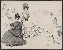 Figure 2. Gibson Girl illustration from the late 1890s.