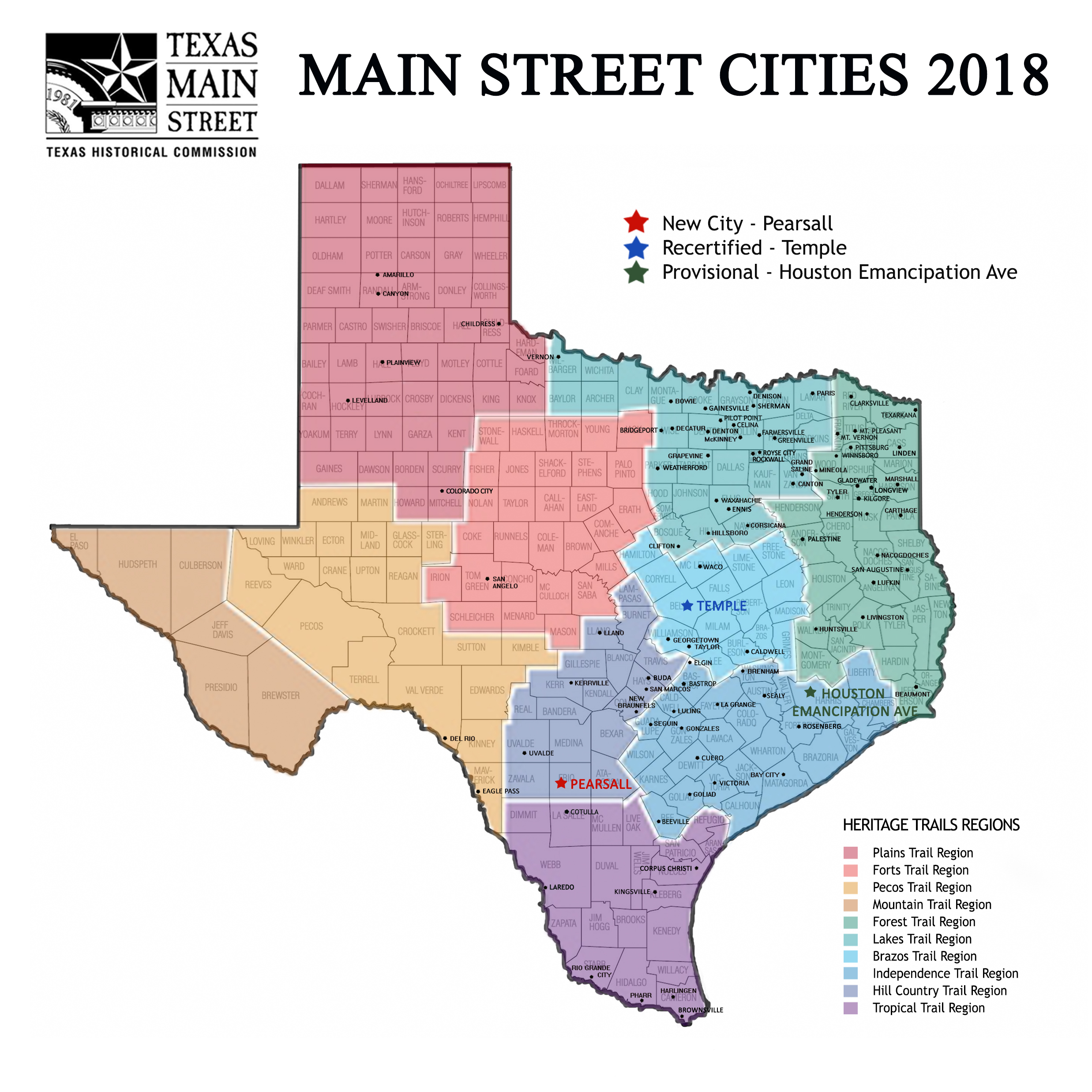 Current Participants THCTexasgov Texas Historical Commission - Map of texas cities