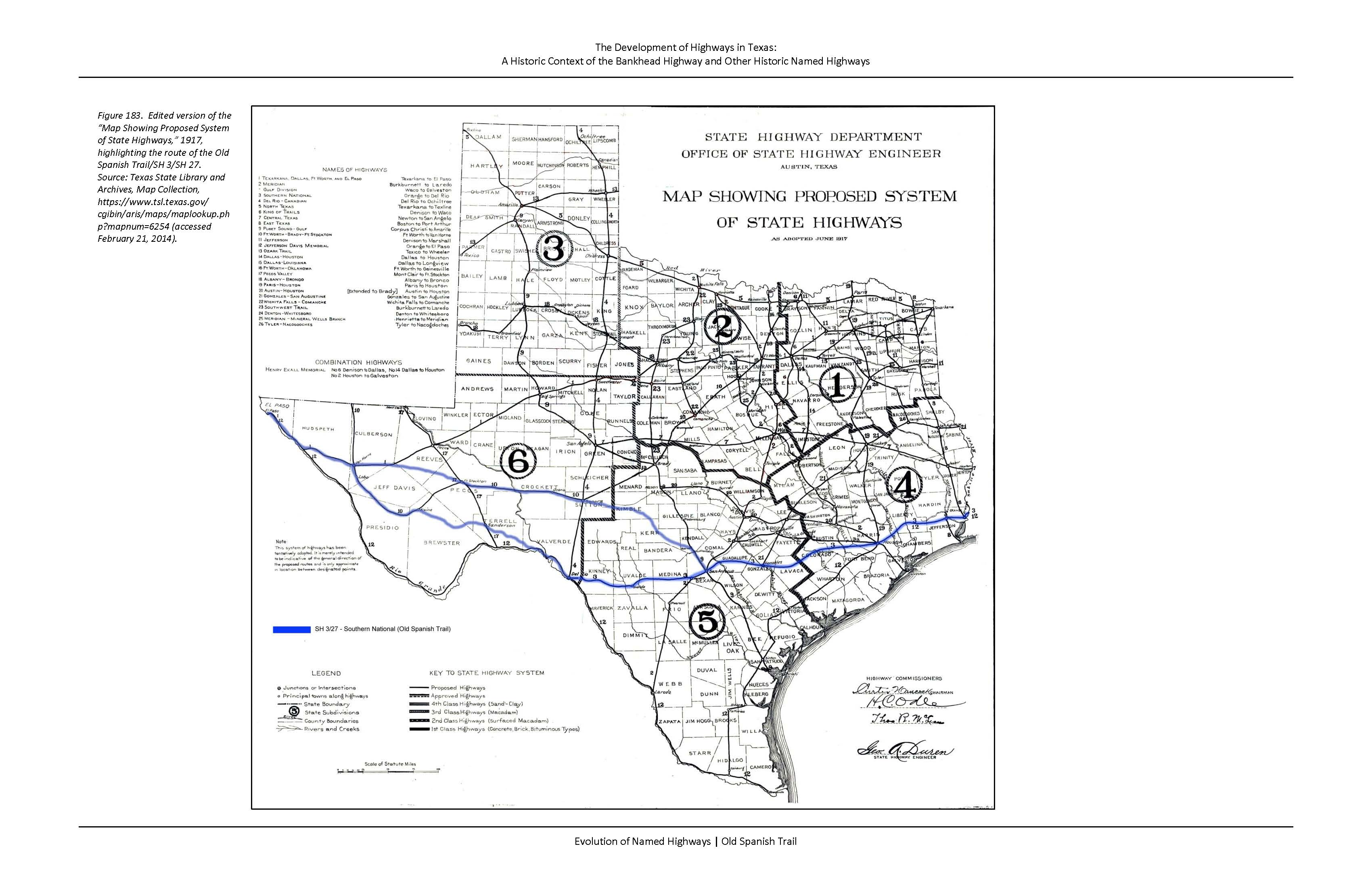 Old Spanish Trail THCTexasgov Texas Historical Commission - Texas interstate map