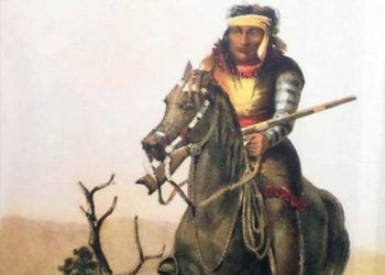 Illustration of an Apache man.