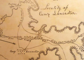 Map of Camp Lancaster.