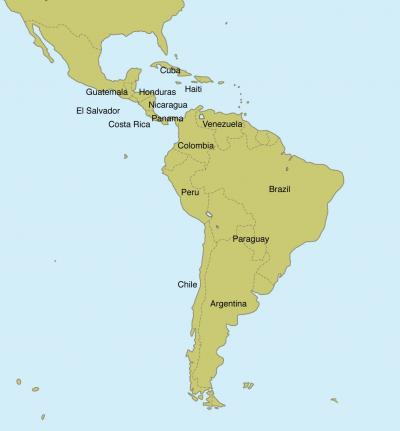 Western Hemisphere Map Map Of The World - Blank map of west us