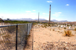 ASARCO smokestacks and smelter cemetery