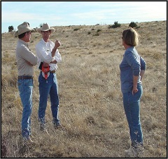 TASN member Doug Wilkens speaking to landowners at a site in the Texas Panhandle.