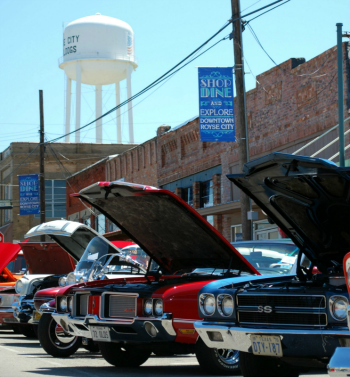 The annual Old Town Block Party features live entertainment in the spring, while the car show highlights vintage vehicles in the summer.