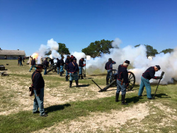 Living historians at Fort McKavett
