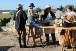 Reenactors at Fort McKavett