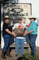 Jim Clark with King Ranch gift bag