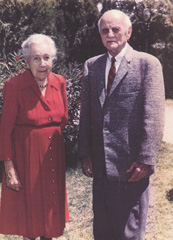 The couple later in life.