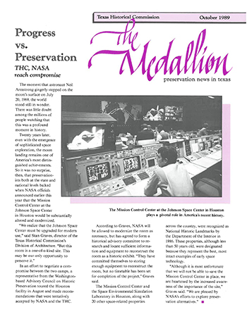 Cover of The Medallion, October 1989