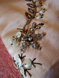 Detail of beading on a gown