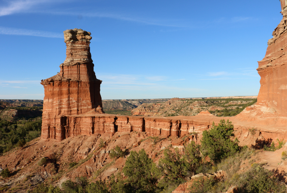 Palo Duro Canyon's Lighthouse rock formation