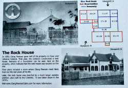Interpretive signage for the Colwick House, aka the Rock House