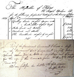 Historic handwritten invoice