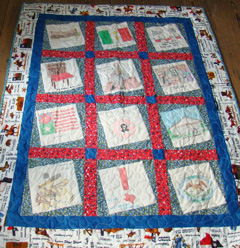 Full view of quilt