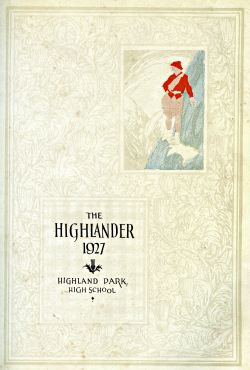 "Front page of ""The Highlander"" yearbook, 1927"