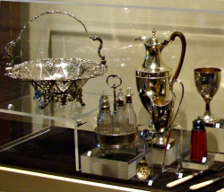 Silver collection on display at Starr Family Home
