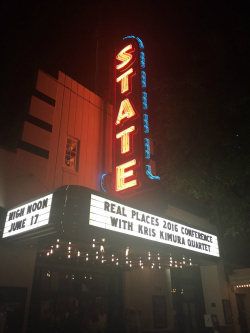 Stateside at the Paramount marquee