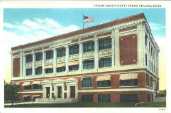 Taylor County Courthouse postcard, circa 1930