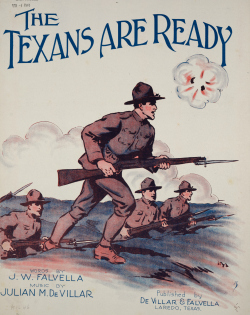 "Cover image for ""The Texans are Ready"" sheet music."