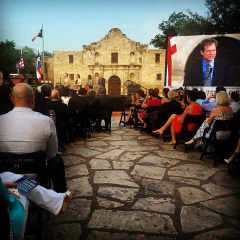 Texas Rising premiere at the Alamo