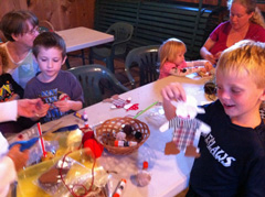Kids at the craft table