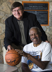 1966 TWC basketball team members Willie Cager and Togo Railey.