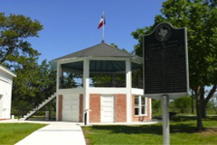 The bandstand today, with exhibit  installation inside.