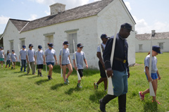 Buffalo Soldier marching drills.