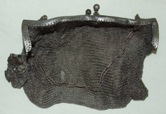 An almost intact chainmail  Whiting-Davis handbag