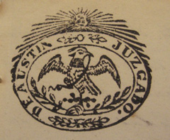 The seal of the juzgado (court) of Austin.