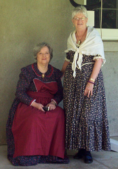 Two women in period costume