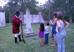 Grounds tour led by a reenactor