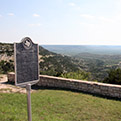 A THC marker on the scenic bluff above Fort Lancaster tells the story of the Military Road.