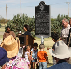 Historical marker dedications are a community event!
