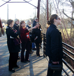 Learning about community preservation through tours.