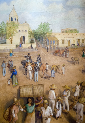 Illustration of early San Antonio.