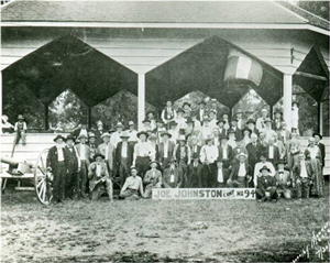 The 1921 annual camp meeting at the Joe Johnston Camp 94 (now the Confederate Reunion Grounds State Historic Site).