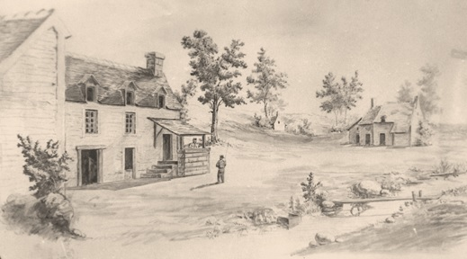 Image of early Castroville by Theodore Gentilz