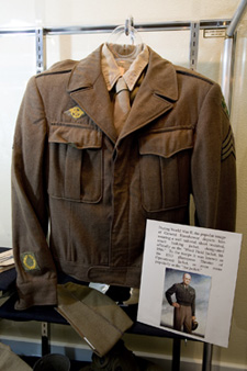 Eisenhower's military uniform on display.
