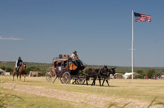 Stagecoach at Fort Griffin.
