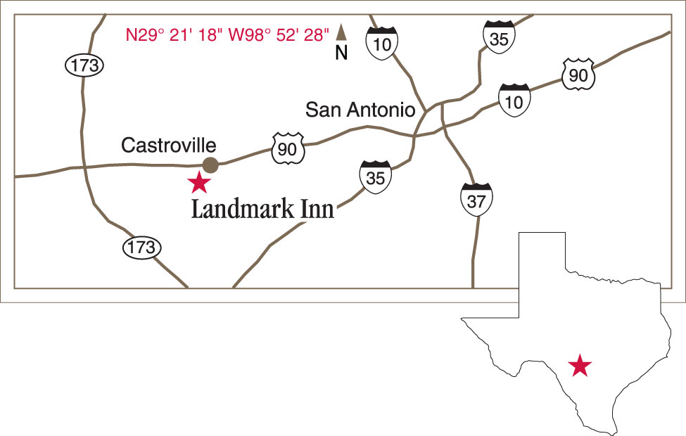Landmark Inn State Historic Site Castroville Texas Texas