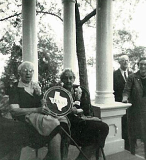 Lala Long and Sallie Lee Lightfoot at the Maxey House Historical Marker Ceremony, 1964.