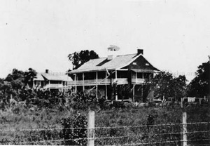 Early image of the plantation house.