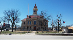 Exterior of restored Throckmorton County Courthouse.