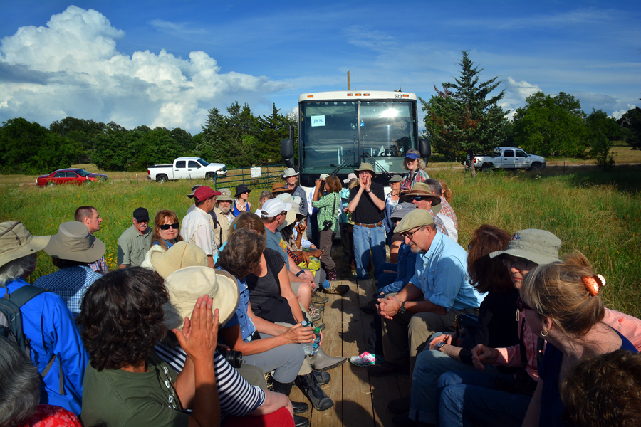 Franklin CHC Native Prairies Tour, photo courtesy of East Texas Journal / Hudson Old