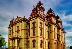 The Caldwell County Courthouse only received minor upgrades over the decades.