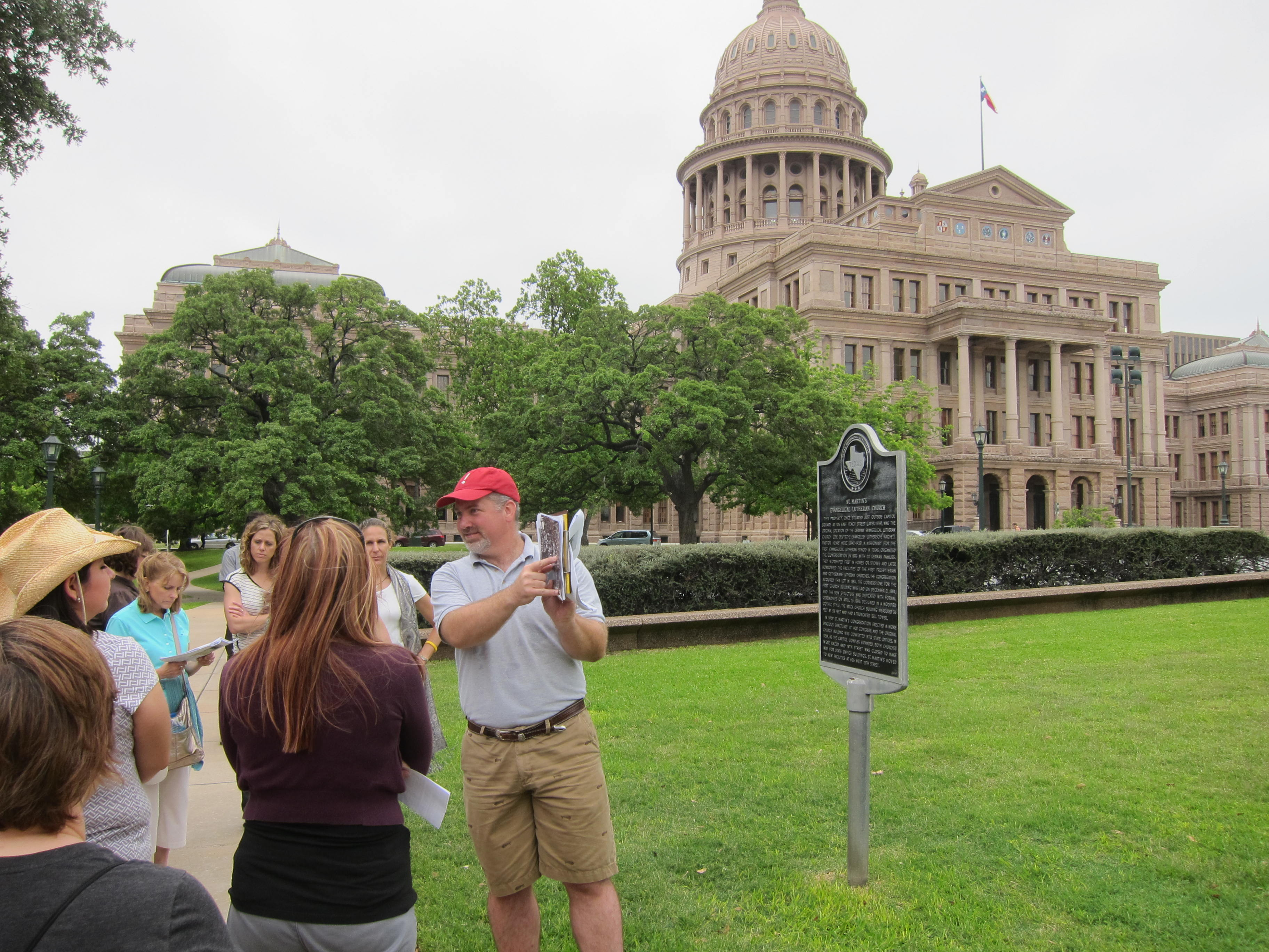 THC staff provide tour of downtown Austin.